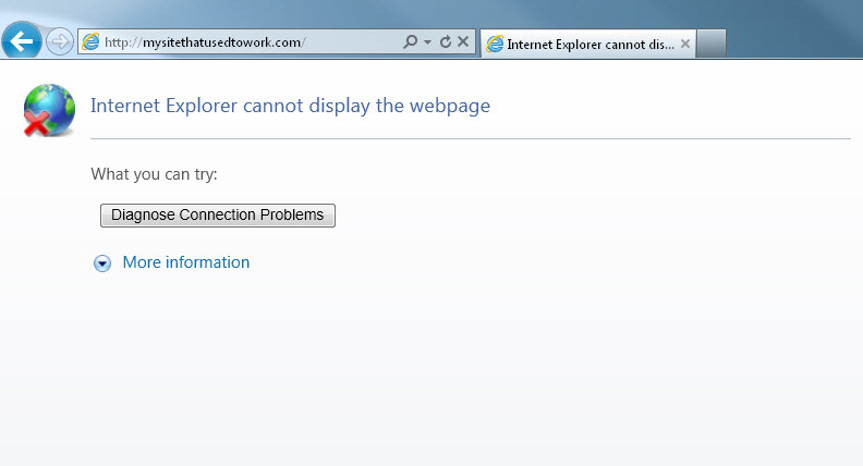 8 reasons for the infamous 'Page Cannot be Displayed' error