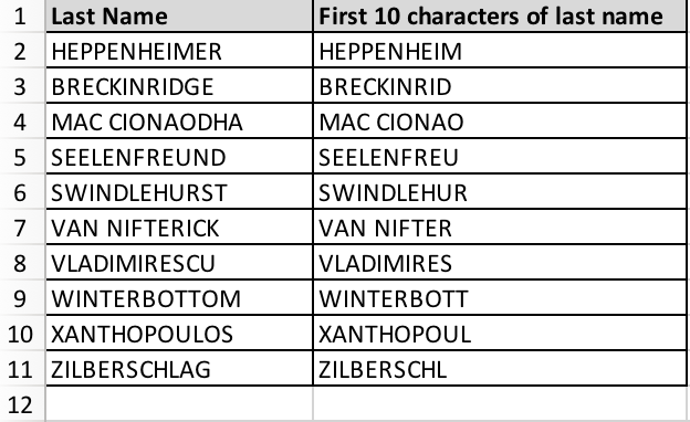 How to strip first few characters of a cell in Excel